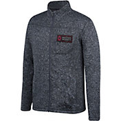 Scarlet & Gray Men's Ohio State Buckeyes Gray Pioneer Full-Zip Sweater