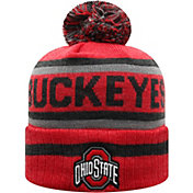 Top of the World Men's Ohio State Buckeyes Scarlet Buddy Cuffed Pom Knit Beanie