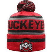 Top of the World Men's Ohio State Buckeyes Scarlet Buddy Cuffed Pom Knit Beanie