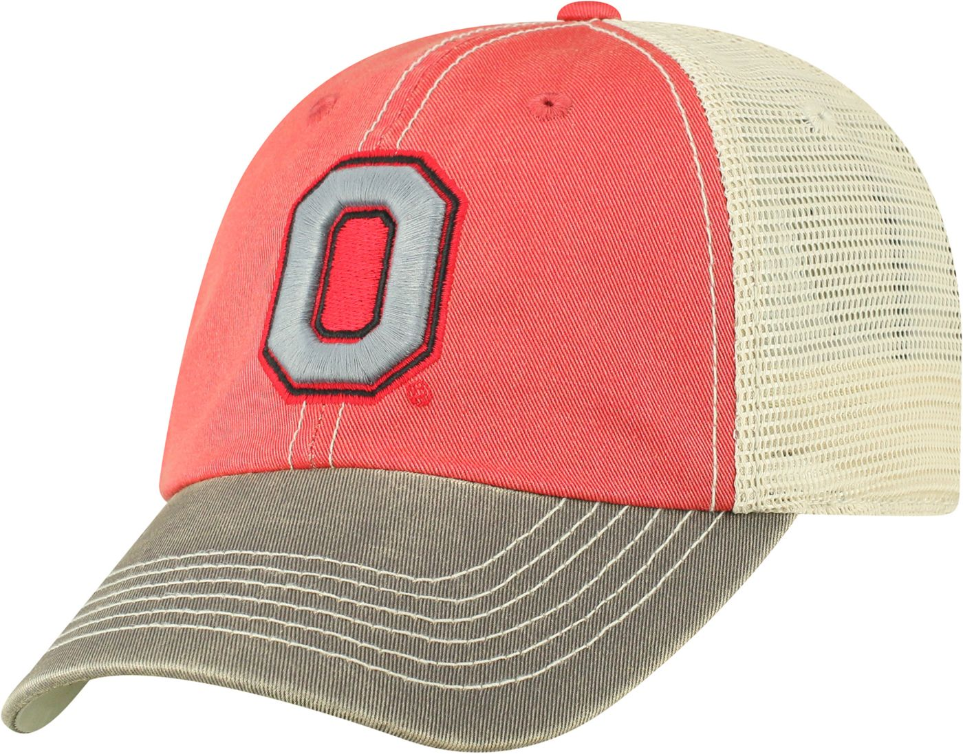 Top of the World Men's Ohio State Buckeyes Scarlet/White Off Road Adjustable Hat