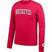 Scarlet & Gray Men's Ohio State Buckeyes Scarlet Foundation Crew Neck Sweatshirt