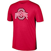 Scarlet & Gray Men's Ohio State Buckeyes Scarlet Heritage Tri-Blend Word T-Shirt