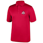 Scarlet & Gray Men's Ohio State Buckeyes Scarlet Carbon Polo