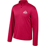 Scarlet & Gray Men's Ohio State Buckeyes Scarlet Quarter-Zip Shirt