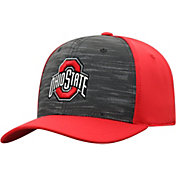 Top of the World Men's Ohio State Buckeyes Grey/Scarlet Pepper 1Fit Flex Hat