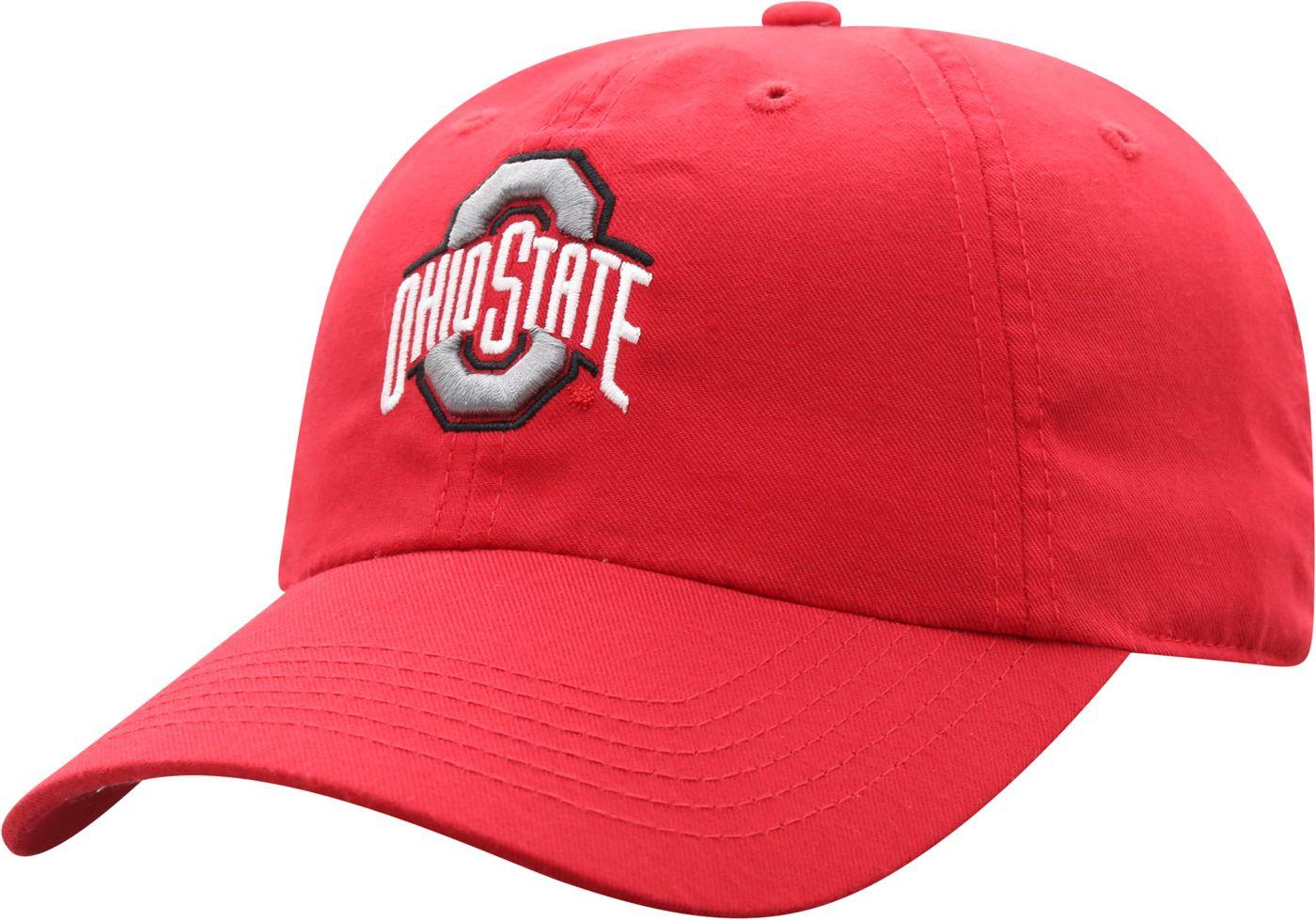 Top of the World Men's Ohio State Buckeyes Scarlet Staple Adjustable Hat