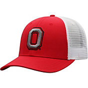 Top of the World Men's Ohio State Buckeyes Scarlet/White Trucker Adjustable Hat