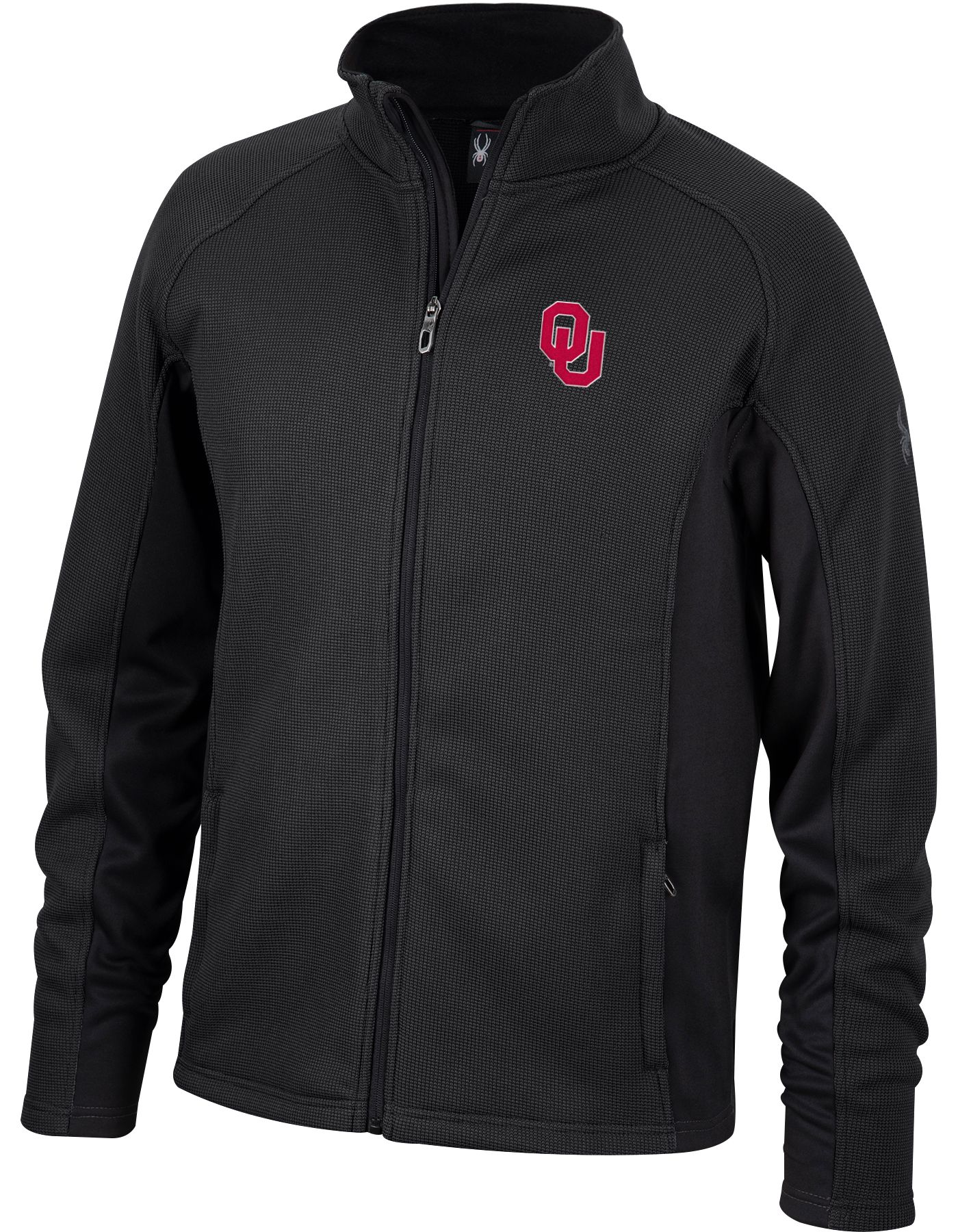 Spyder Men's Oklahoma Sooners Constant Full-Zip Fleece Black Jacket