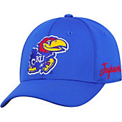 Top of the World Men's Kansas Jayhawks Blue Phenom 1Fit Flex Hat