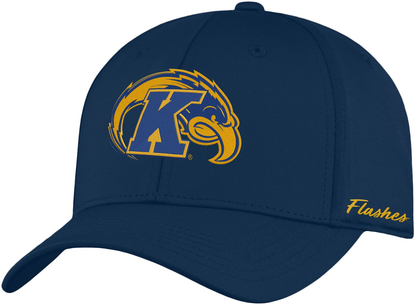 Top of the World Men's Kent State Golden Flashes Navy Blue Phenom 1Fit Flex Hat