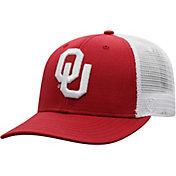 Top of the World Men's Oklahoma Sooners Crimson/White Trucker Adjustable Hat