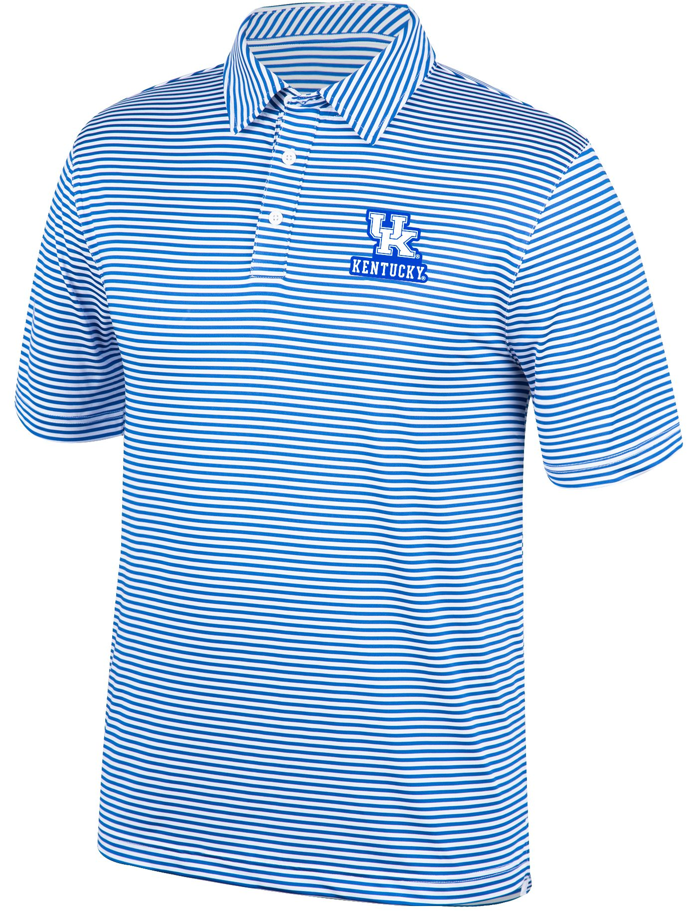 Top of the World Men's Kentucky Wildcats Blue/White Bunker Polo