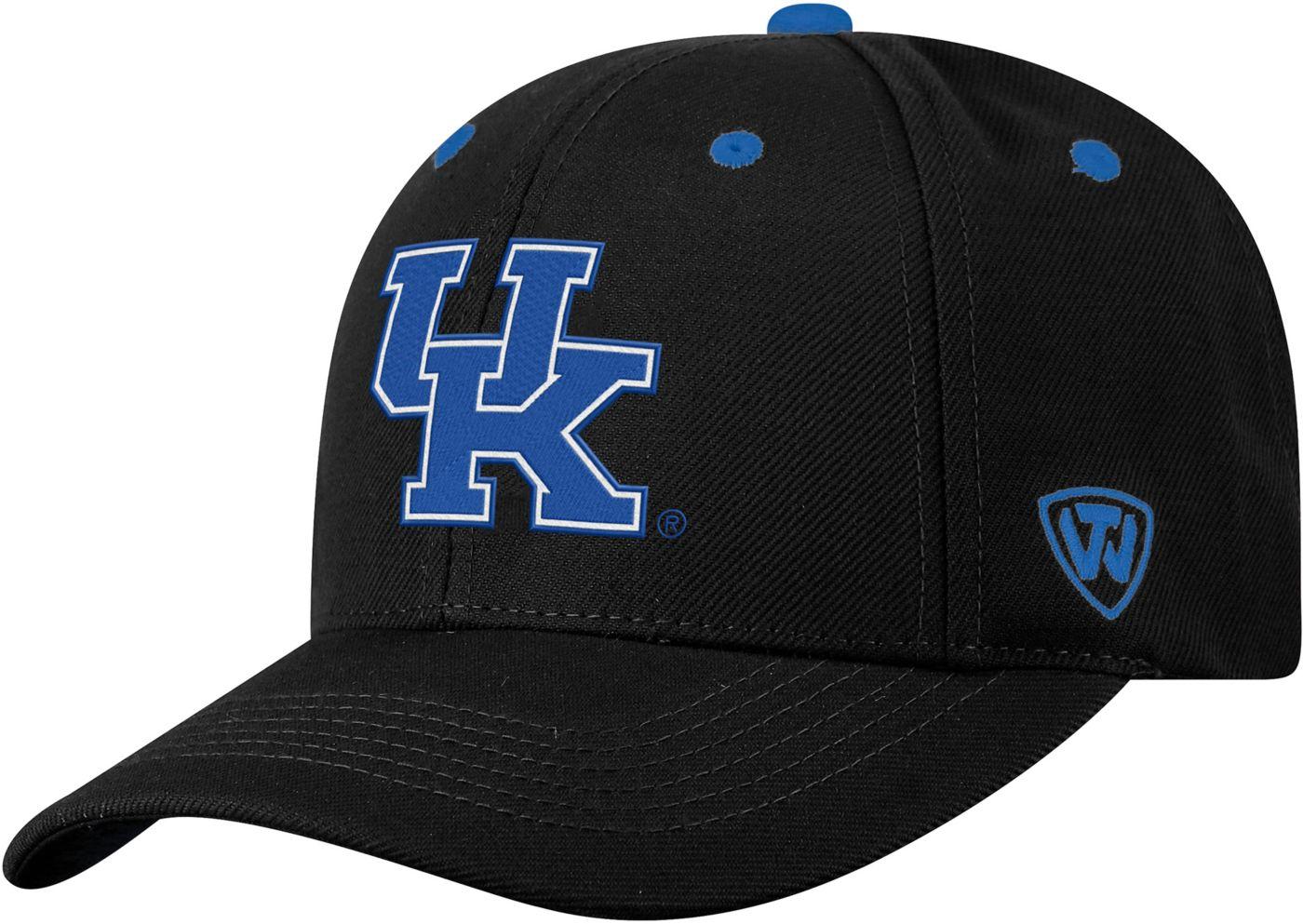 Top of the World Men's Kentucky Wildcats Triple Threat Adjustable Black Hat