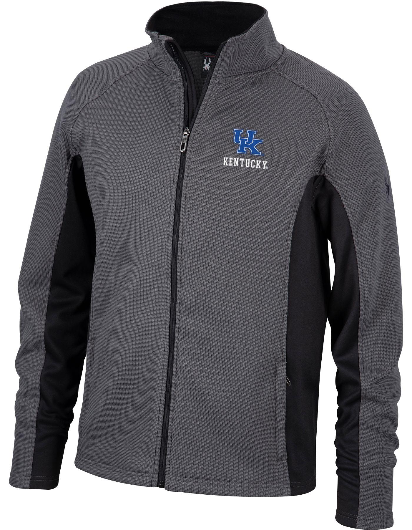 Spyder Men's Kentucky Wildcats Grey Constant Full-Zip Fleece Jacket
