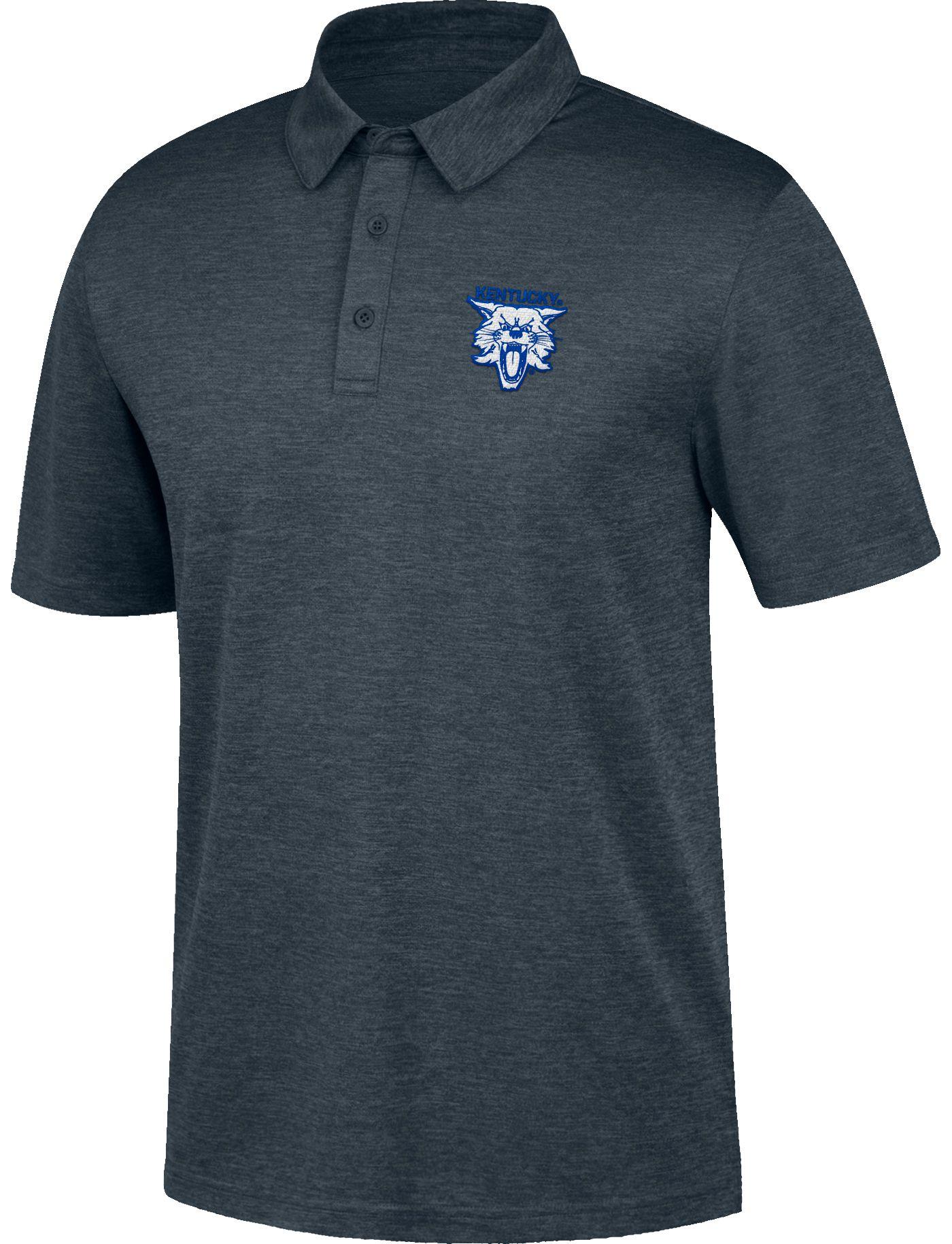 Top of the World Men's Kentucky Wildcats Grey Carbon Polo