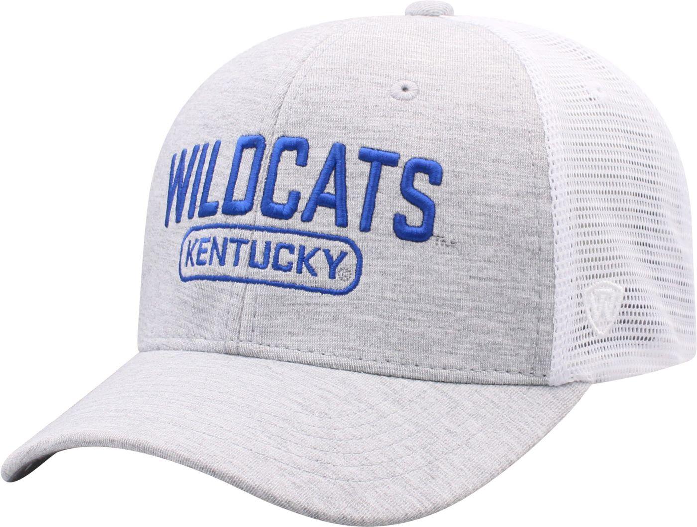 Top of the World Men's Kentucky Wildcats Grey Notch Adjustable Snapback Hat