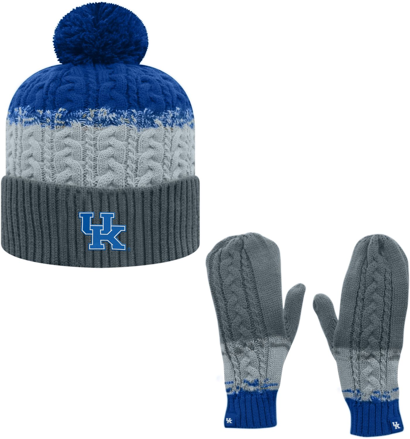 Top of the World Youth Kentucky Wildcats Blue Disperse Beanie and Gloves Set