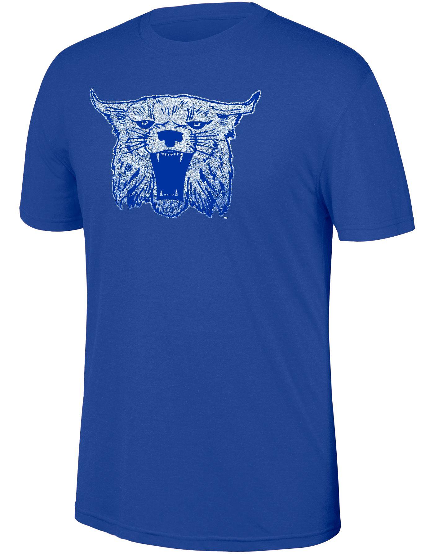 Top of the World Men's Kentucky Wildcats Blue Heritage Tri-Blend Logo T-Shirt