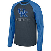 Top of the World Men's Kentucky Wildcats Grey/Blue Long Sleeve Raglan Baseball T-Shirt
