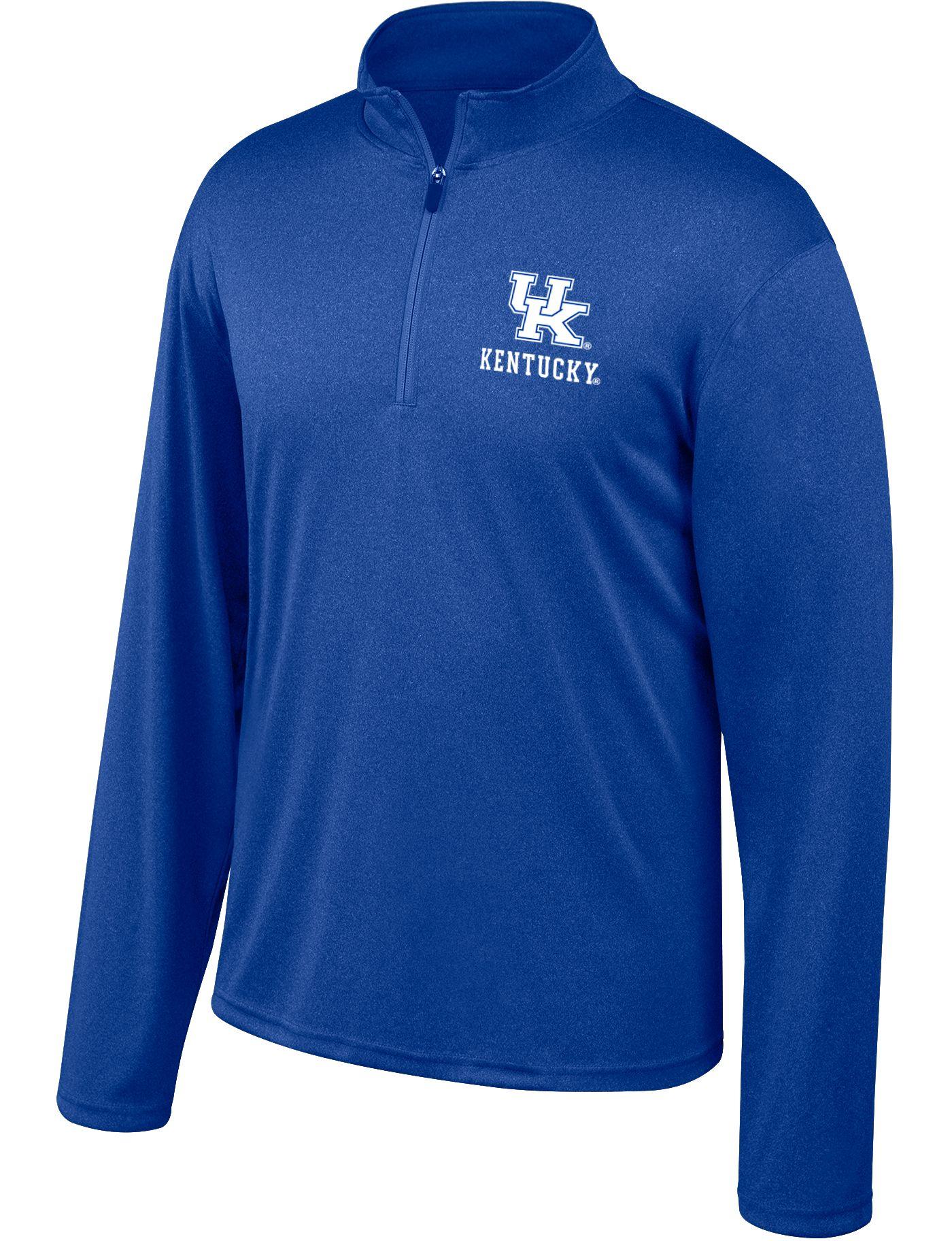 Top of the World Men's Kentucky Wildcats Blue Quarter-Zip Shirt