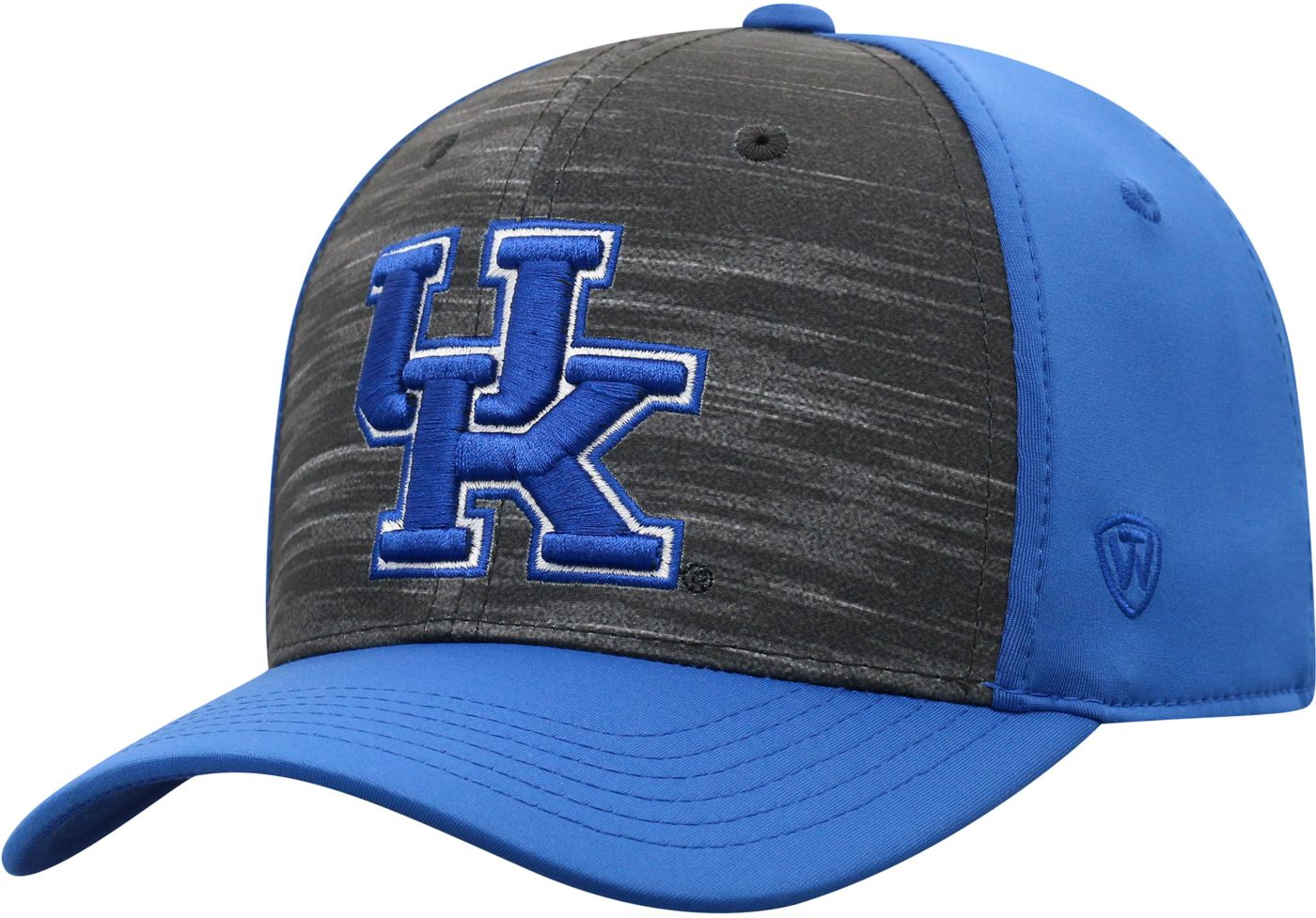 Top of the World Men's Kentucky Wildcats Grey/Blue Pepper 1Fit Flex Hat