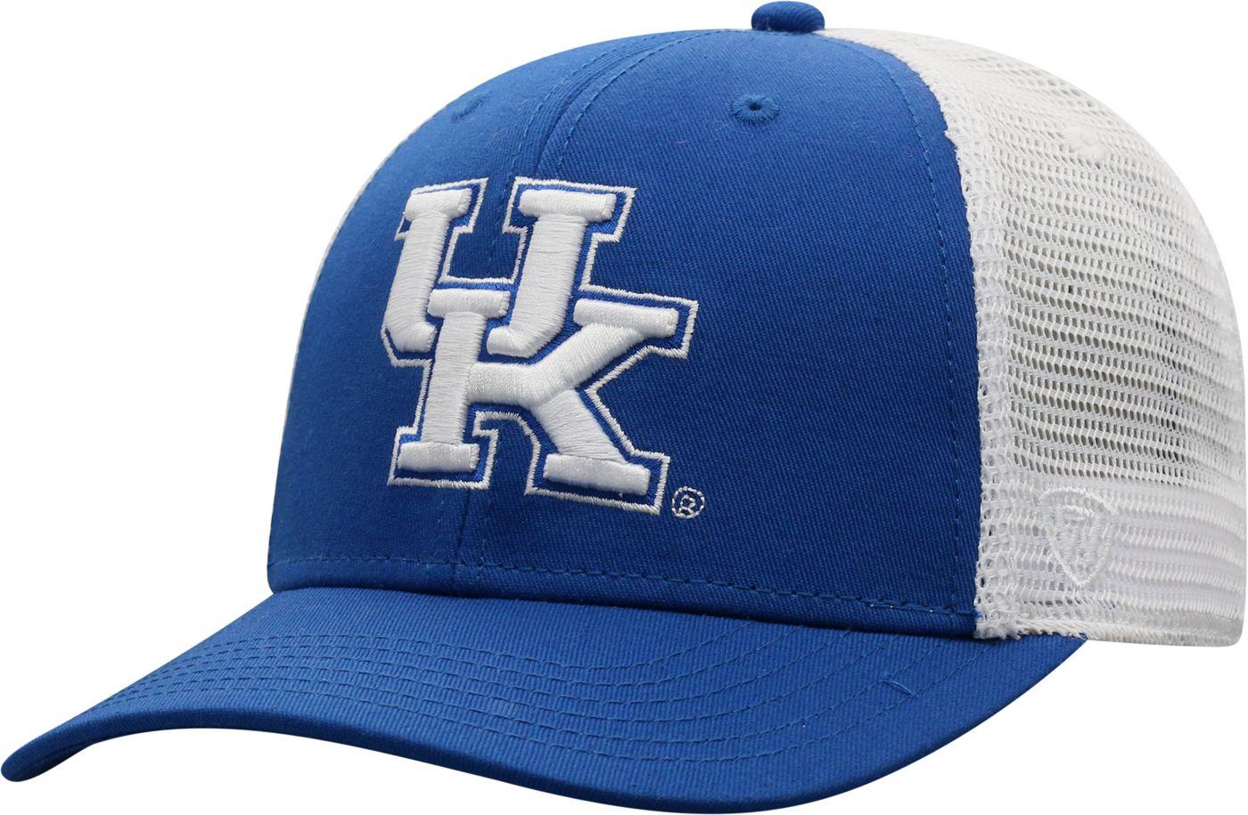 Top of the World Men's Kentucky Wildcats Blue/White Trucker Adjustable Hat