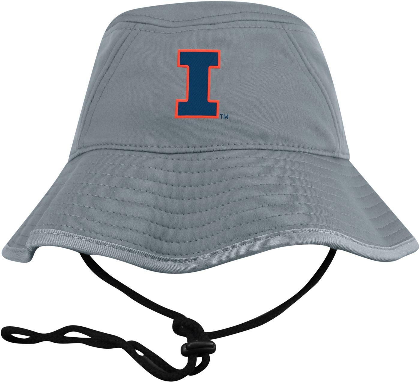 Top of the World Men's Illinois Fighting Illini Grey Bucket Hat