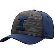 Top of the World Men's Illinois Fighting Illini Grey/Blue Pepper 1Fit Flex Hat