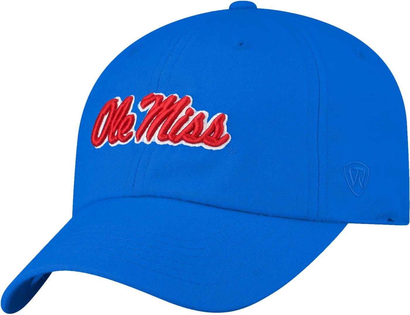 Top of the World Men's Ole Miss Rebels Light Blue Staple Adjustable Hat
