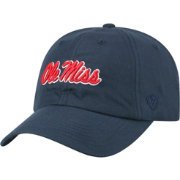 Top of the World Men's Ole Miss Rebels Blue Staple Adjustable Hat