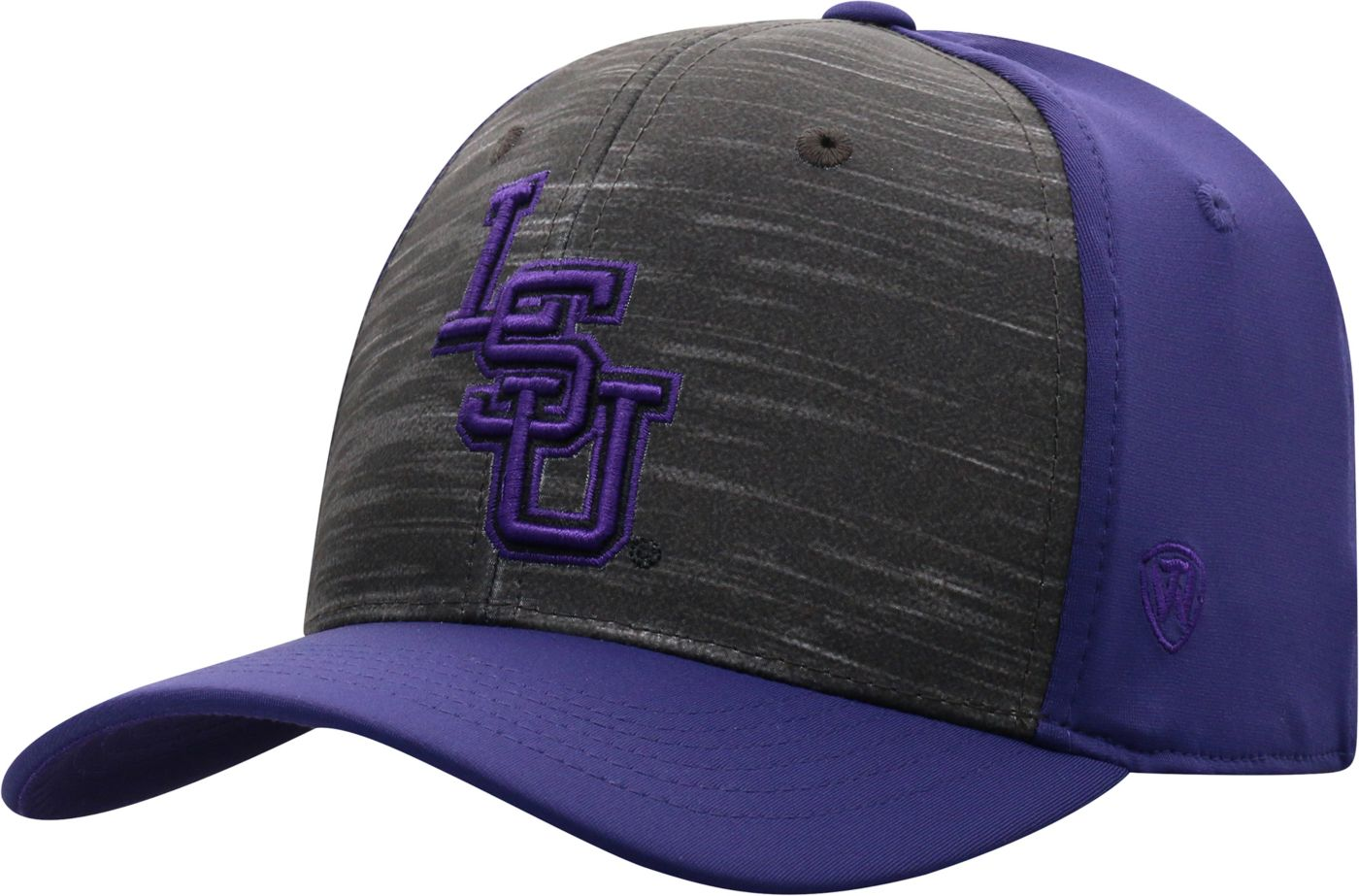 Top of the World Men's LSU Tigers Grey/Purple Pepper 1Fit Flex Hat