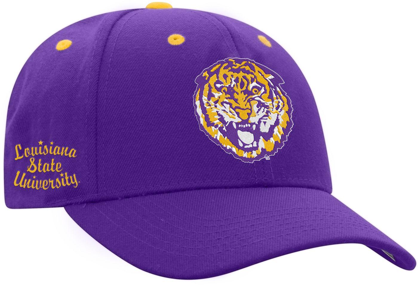 Top of the World Men's LSU Tigers Purple Retro Triple Threat Adjustable Hat