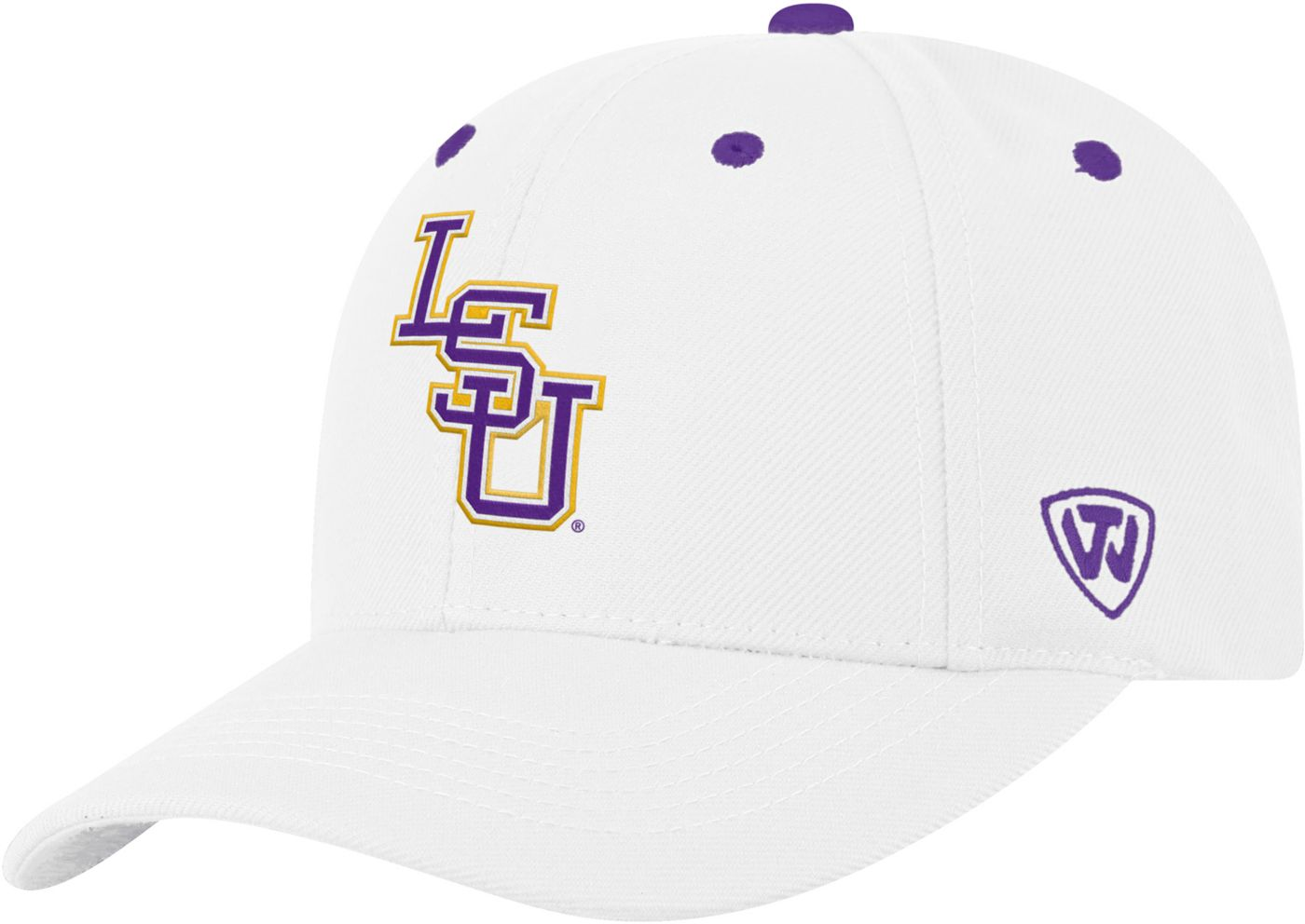 Top of the World Men's LSU Tigers Triple Threat Adjustable White Hat