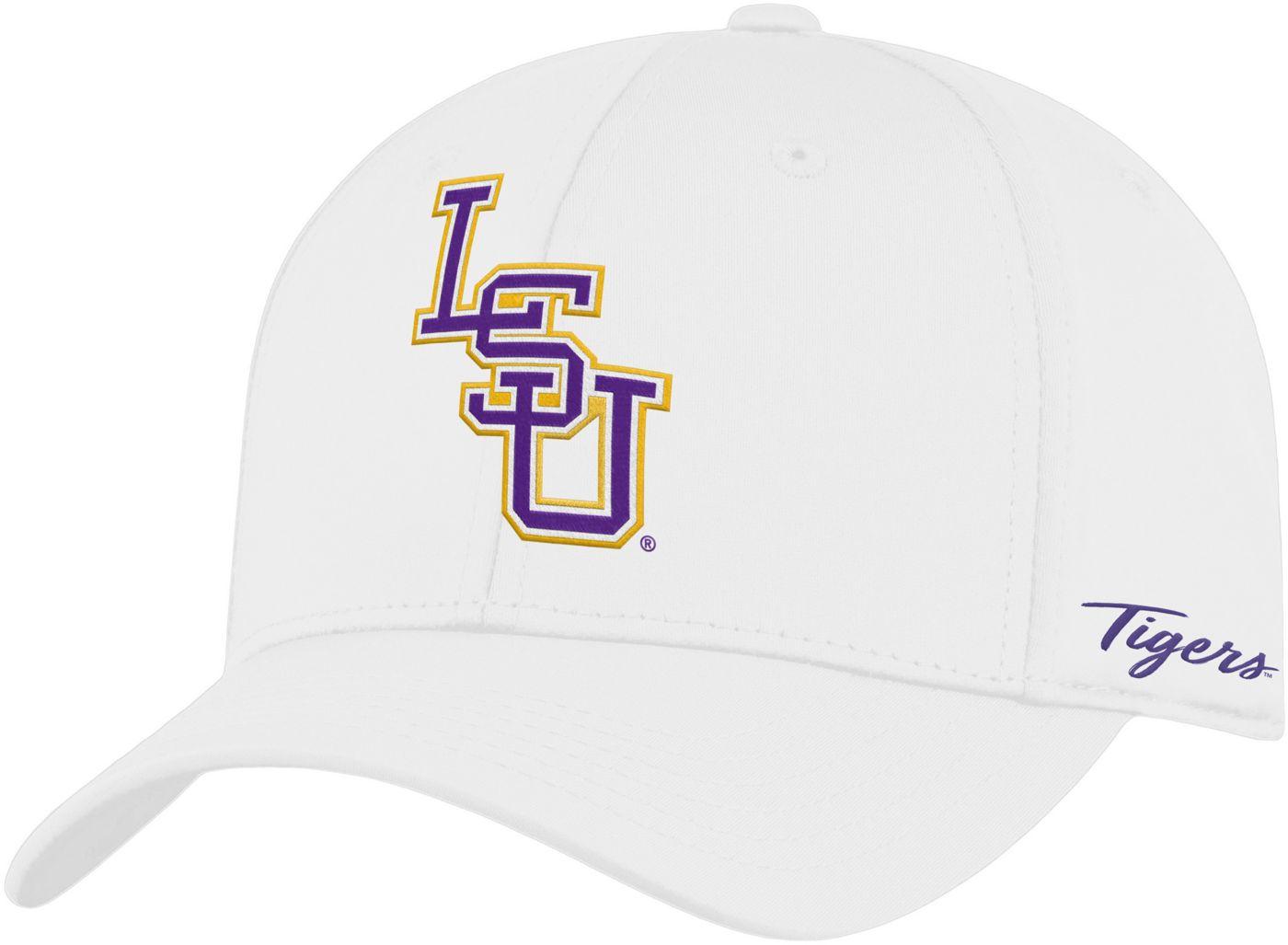 Top of the World Men's LSU Tigers Phenom 1Fit Flex White Hat
