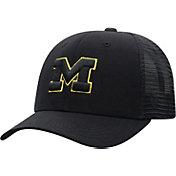 Top of the World Men's Michigan Wolverines ZigZag Trucker Adjustable Black Hat