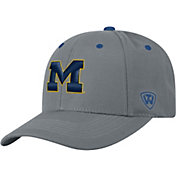 Top of the World Men's Michigan Wolverines Grey Triple Threat Adjustable Hat