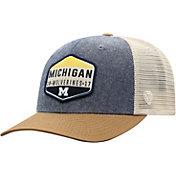 Top of the World Men's Michigan Wolverines Grey/Brown/White Wild Adjustable Hat