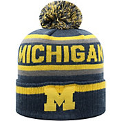 Top of the World Men's Michigan Wolverines Blue Buddy Cuffed Pom Knit Beanie