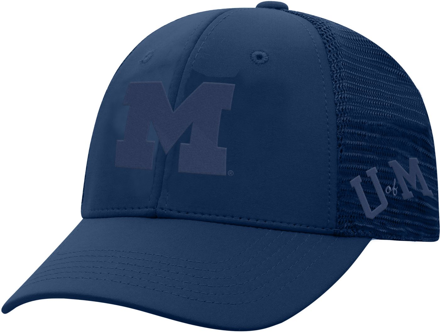 Top of the World Men's Michigan Wolverines Blue Dayblaster 1Fit Flex Hat