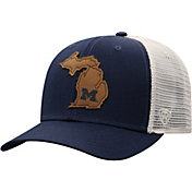 Top of the World Men's Michigan Wolverines Blue/Grey Precise Trucker Adjustable Hat