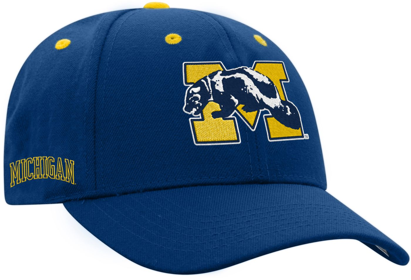 Top of the World Men's Michigan Wolverines Blue Retro Triple Threat Adjustable Hat