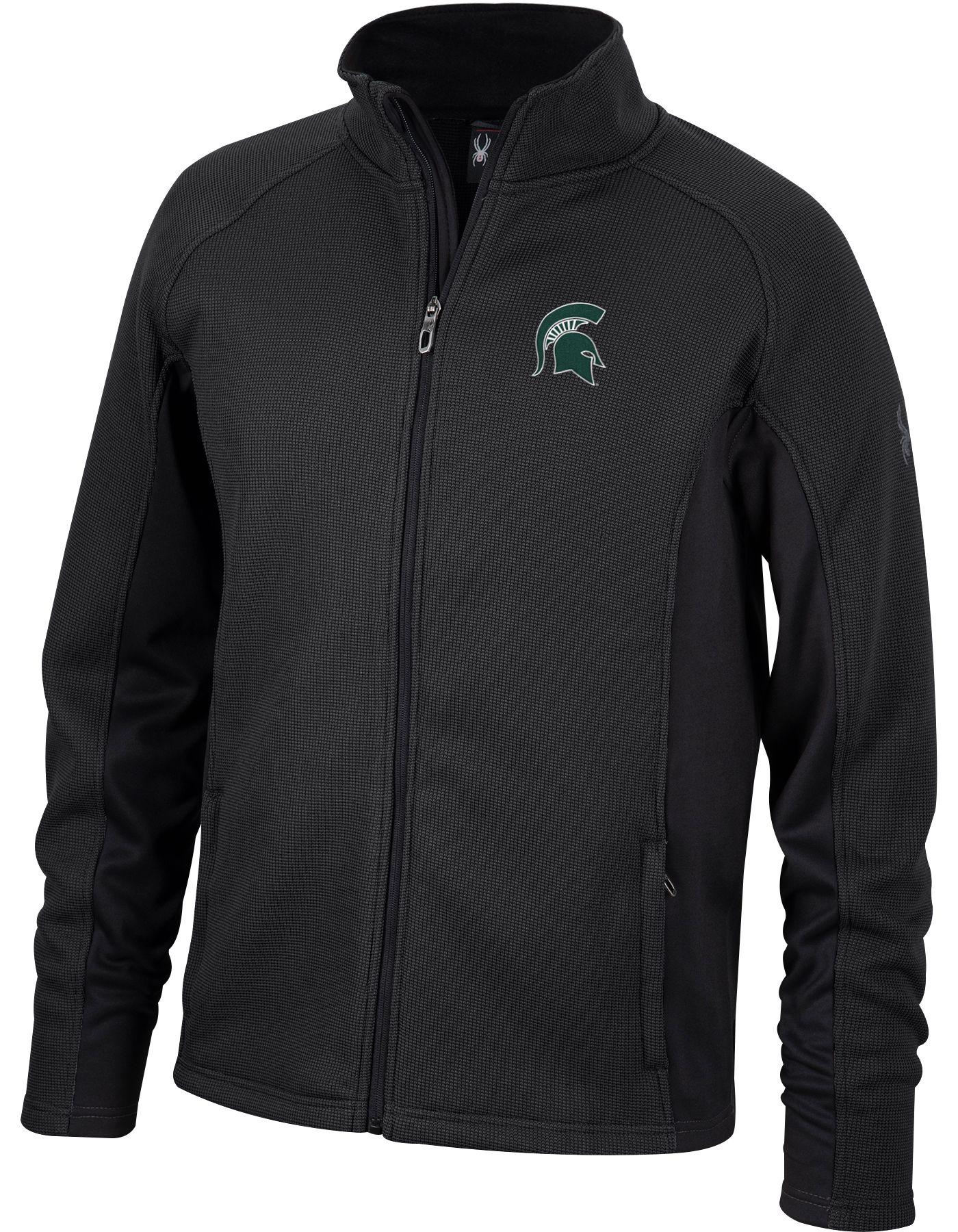 Spyder Men's Michigan State Spartans Constant Full-Zip Fleece Black Jacket