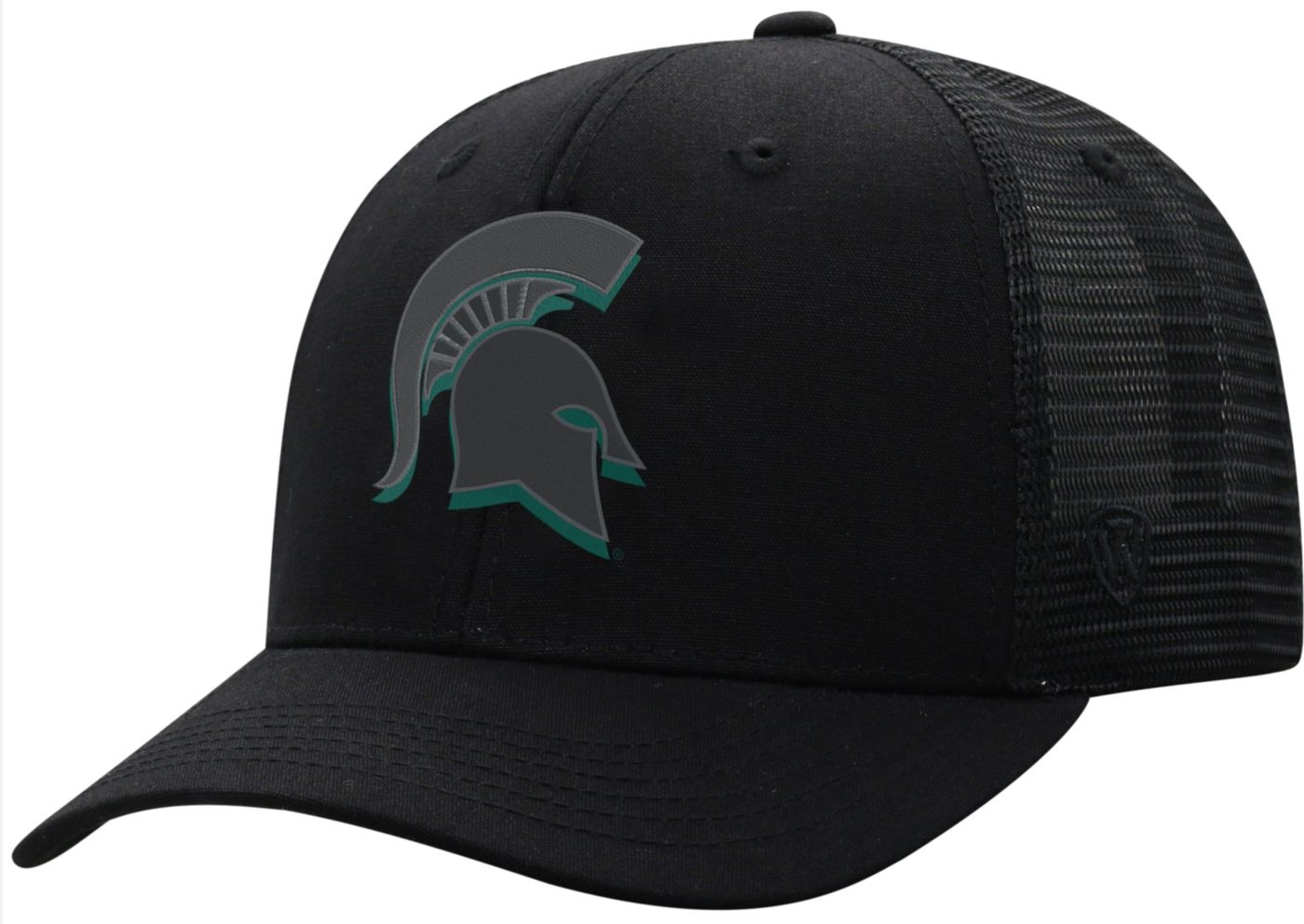 Top of the World Men's Michigan State Spartans ZigZag Trucker Adjustable Black Hat