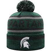 Top of the World Men's Michigan State Spartans Green Buddy Cuffed Pom Knit Beanie