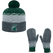 Top of the World Youth Michigan State Spartans Green Disperse Beanie and Gloves Set