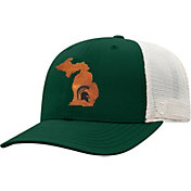 Top of the World Men's Michigan State Spartans Green/Grey Precise Trucker Adjustable Hat