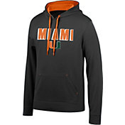 Top of the World Men's Miami Hurricanes Foundation Poly Black Hoodie