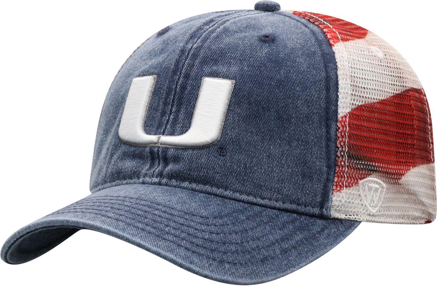 Top of the World Men's Miami Hurricanes Flag Adjustable Hat