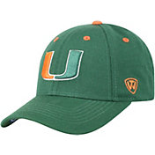 Top of the World Men's Miami Hurricanes Green Triple Threat Adjustable Hat