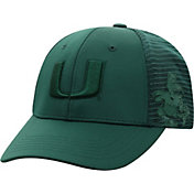 Top of the World Men's Miami Hurricanes Green Dayblaster 1Fit Flex Hat